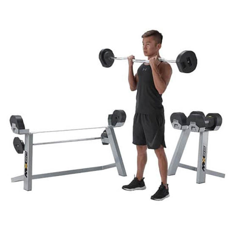 Image of MX Select MX80 Adjustable Barbell & EZ Curl Bar Bicep Curl