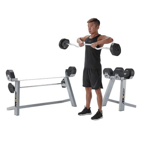 Image of MX Select MX80 Adjustable Barbell & EZ Curl Bar DeadLift