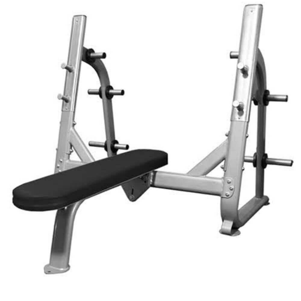 Muscle D Fitness BM-OFB Elite Series Olympic Flat Bench 3D View