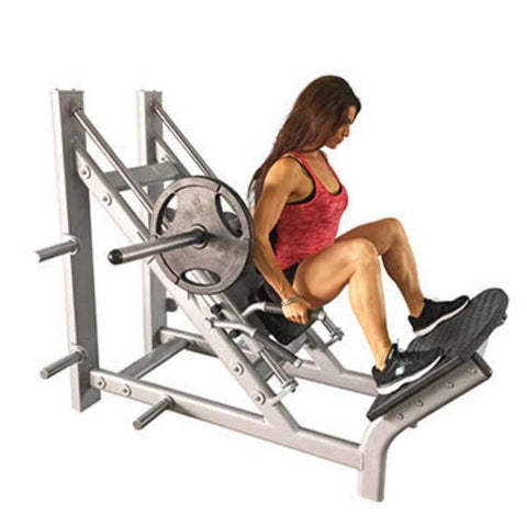 Muscle D Fitness MD-CH MD Series 45 Degree Linear Calf_Hack Machine 3D View Close Up
