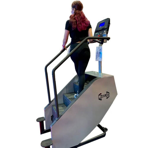 Image of Muscle D Fitness MD-MS MuscleStepper Commercial Stair Back View