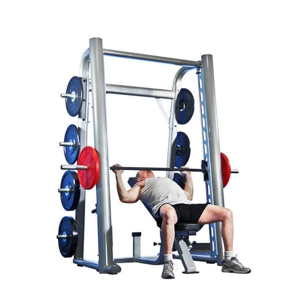Muscle D Fitness MD-SM85 85_ Smith Machine 3D View Lying