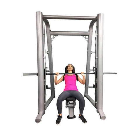 Muscle D Fitness MD-SM85 85_ Smith Machine Front View Sitting