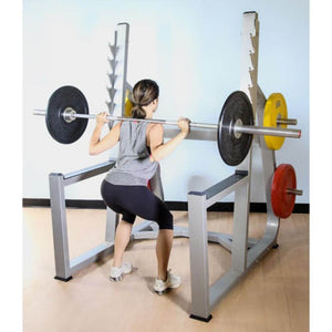 Muscle D Fitness MD-SR Squat Rack 3D View With Model