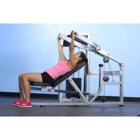 Image of Muscle D Fitness MDD-1001 Dual Function Line Multi Press Combo 3D View Bench Press Inclined