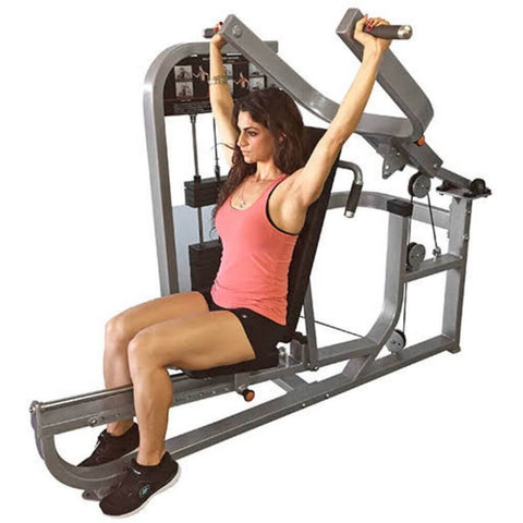 Muscle D Fitness MDD-1001 Dual Function Line Multi Press Combo 3D View Shoulder Press Close Up