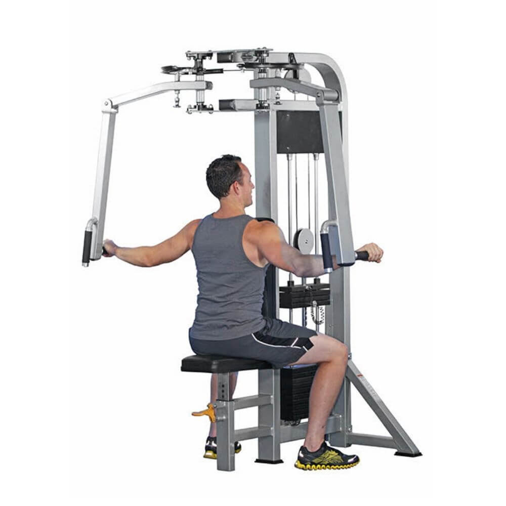 Muscle D Fitness MDD-1003 Dual Function Line Pec Deck_Rear Delt Combo Back View