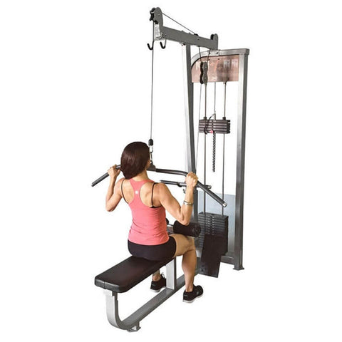 Muscle D Fitness MDD-1004 Dual Function Line Lat_Low Row Combo Close Up View