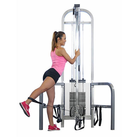 Muscle D Fitness MDD-1010 Dual Function Line Hi_Low Pulley Combo Front View With Model