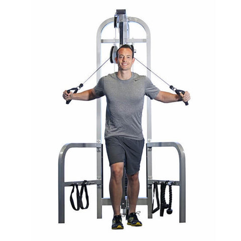 Muscle D Fitness MDD-1010 Dual Function Line Hi_Low Pulley Combo Front View