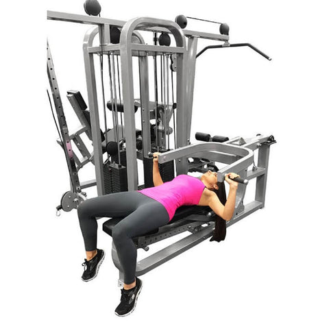 Muscle D Fitness MDM-4SC Multi Stations Compact 4-Stack Multi Gym Bench