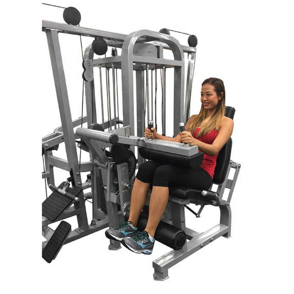 Muscle D Fitness MDM-4SC Multi Stations Compact 4-Stack Multi Gym Crunch