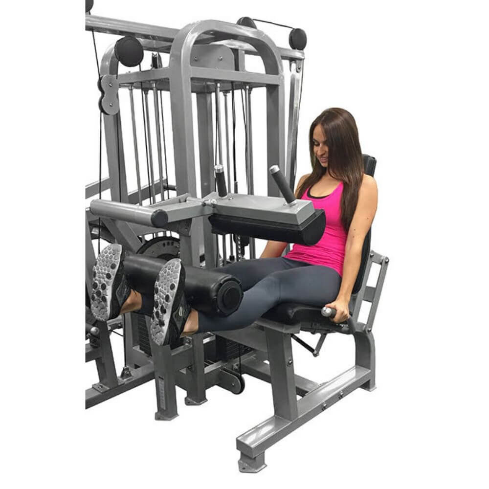 Muscle D Fitness MDM-4SC Multi Stations Compact 4-Stack Multi Gym Crunch Extended Leg