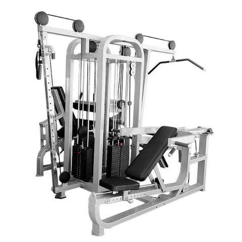 Muscle D Fitness MDM-4SC Multi Stations Compact 4-Stack Multi Gym Front Side View