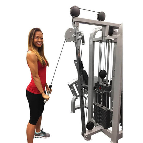 Muscle D Fitness MDM-4SC Multi Stations Compact 4-Stack Multi Gym High Pulley Bicep Curl