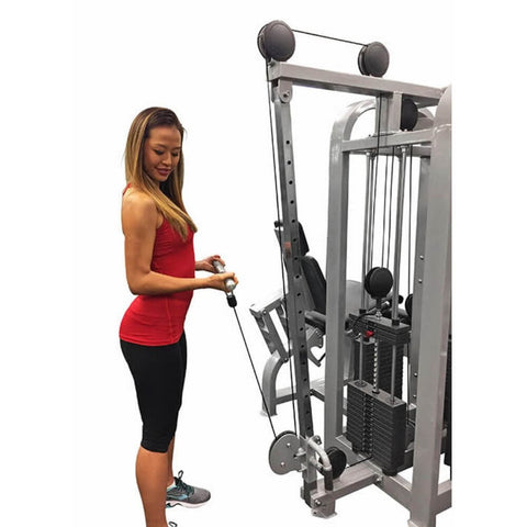 Muscle D Fitness MDM-4SC Multi Stations Compact 4-Stack Multi Gym Low Pulley Bicep Curl