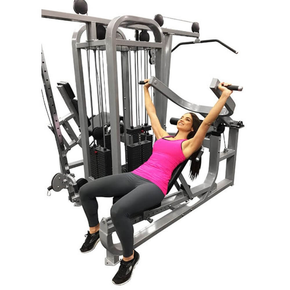 Muscle D Fitness MDM-4SC Multi Stations Compact 4-Stack Multi Gym Shoulder Press Inclined