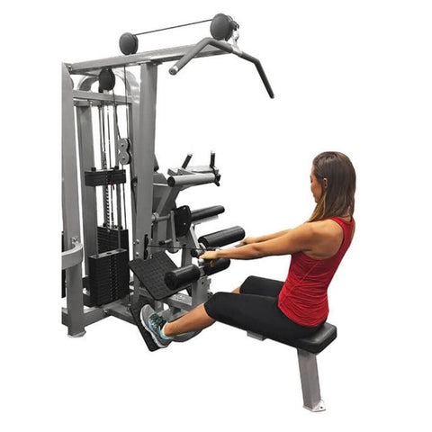 Muscle D Fitness MDM-4SC Multi Stations Compact 4-Stack Multi Gym Side View Crunch