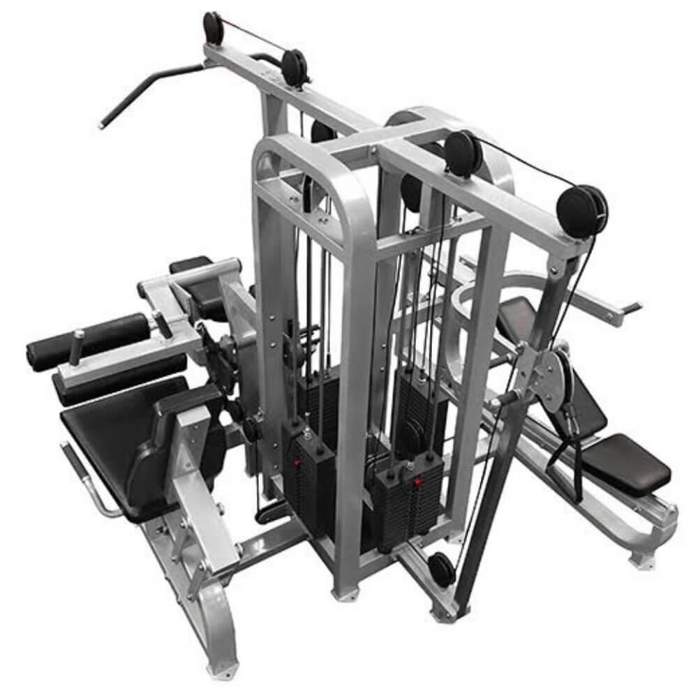 Muscle D Fitness MDM-4SC Multi Stations Compact 4-Stack Multi Gym Top Back View