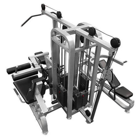 Muscle D Fitness MDM-4SC Multi Stations Compact 4-Stack Multi Gym Top Front Side View