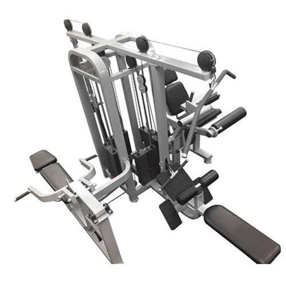 Muscle D Fitness MDM-4SC Multi Stations Compact 4-Stack Multi Gym Top View Close Up