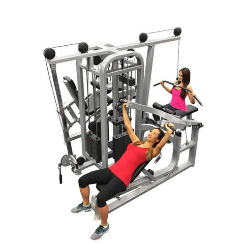 Muscle D Fitness MDM-4SC Multi Stations Compact 4-Stack Multi Gym Top View