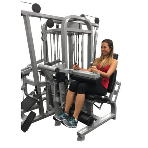 Muscle D Fitness MDM-5SC Multi Stations Compact 5-Stack Multi Gym Crunch Front View