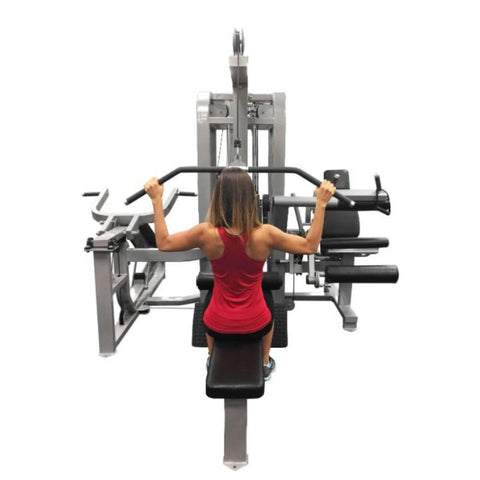 Muscle D Fitness MDM-5SC Multi Stations Compact 5-Stack Multi Gym Shoulder Press Back View