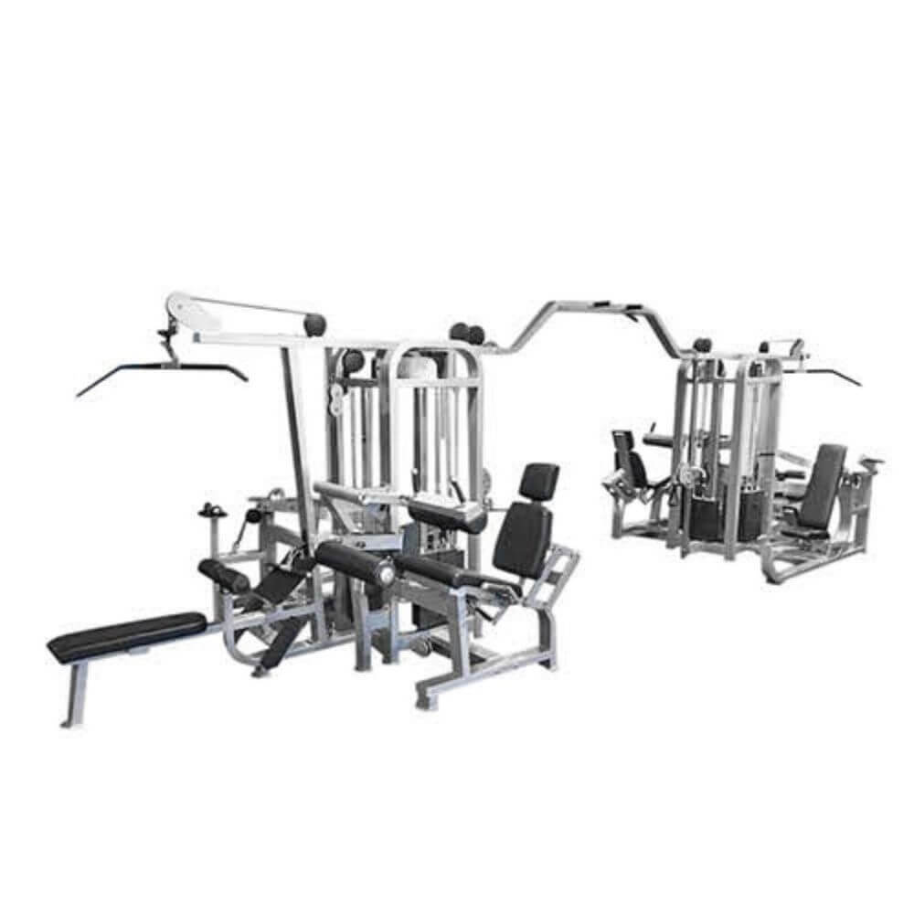 Muscle D Fitness MDM-8SC Multi Stations Compact 8-Stack Multi Gym 3D View