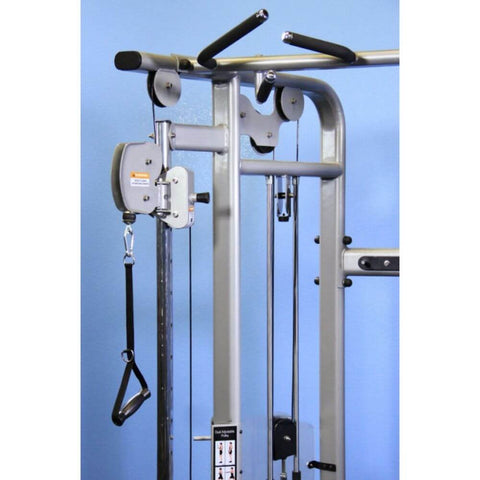 Muscle D Fitness MDM-D88 Multi Stations 95_ Dual Adjustable Pulley Functional Trainer Front View Close Up