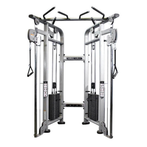 Muscle D Fitness MDM-D88 Multi Stations 95_ Dual Adjustable Pulley Functional Trainer Front View