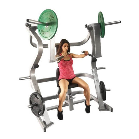 Image of Muscle D Fitness MDP-1001 Power Leverage Iso Lateral Chest Press 3D View With Model