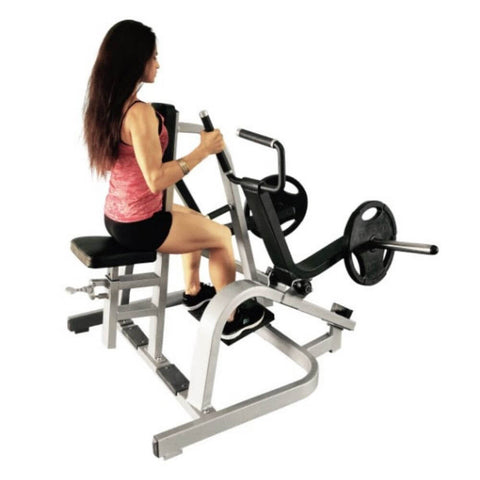Muscle D Fitness MDP-1005 Power Leverage Iso Lateral Low Row 3D View With Model