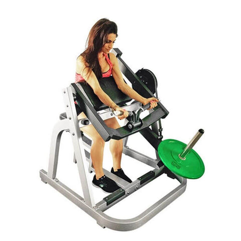 Muscle D Fitness MDP-1018 Power Leverage Seated Arm Curl Exercise Arms Extended