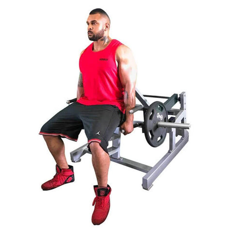 Muscle D Fitness MDP-1032 Power Leverage Seated Standing Shrug 3D View With Model