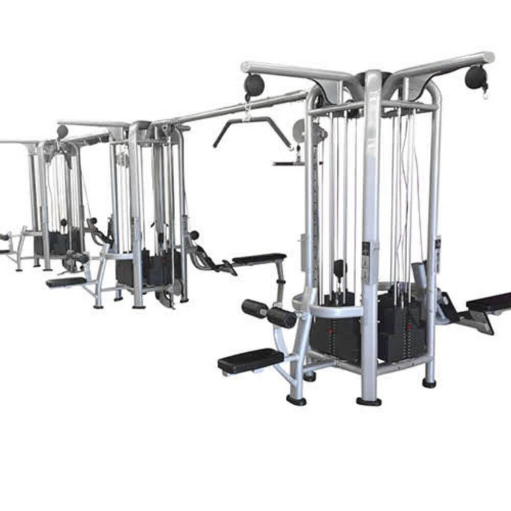 Muscle D Fitness Multi Stations Deluxe 12-Stack Jungle Gym Version A