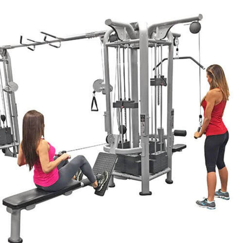 Muscle D Fitness Multi Stations Deluxe 5-Stack Jungle Gym Version A 3D View