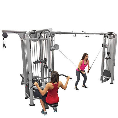 Muscle D Fitness Multi Stations Deluxe 5-Stack Jungle Gym Version A Side View