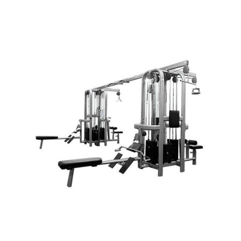Muscle D Fitness Multi Stations Deluxe 8-Stack Jungle Gym Version A 3D View