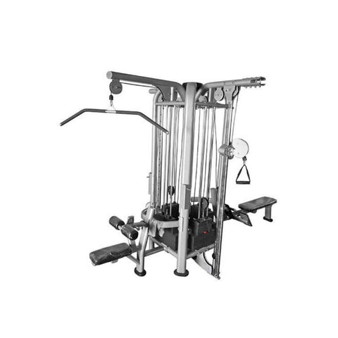 Muscle D Fitness Multi Stations Deluxe 8-Stack Jungle Gym Version A Back View