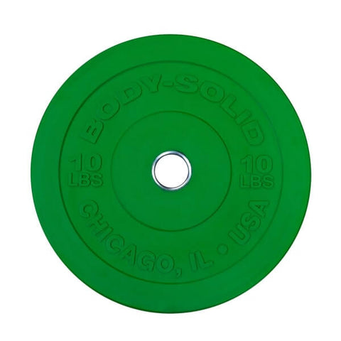 Body-Solid Tools Chicago Extreme Colored Bumper Plates OBPXC