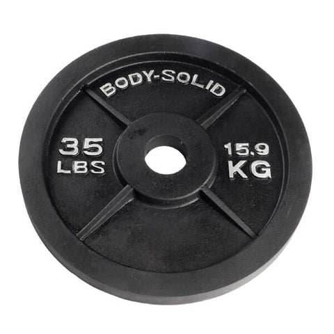 Body-Solid Cast Iron Olympic Weight Plates OPB
