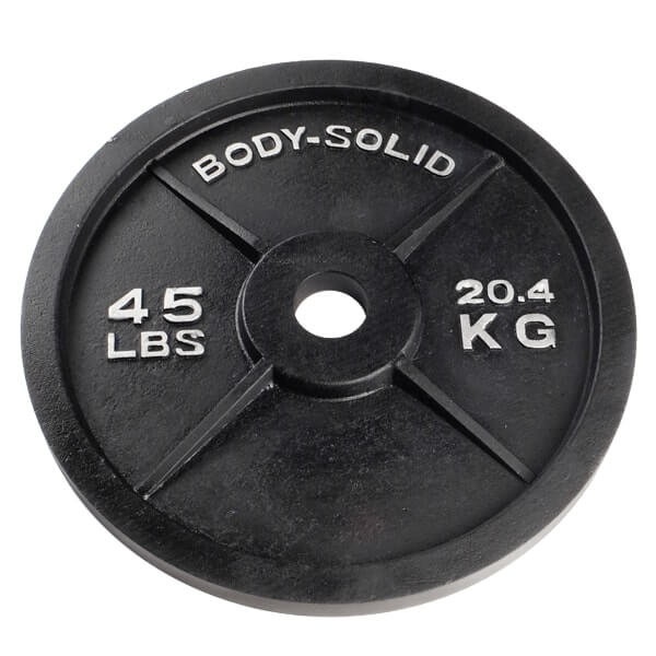 Body-Solid 45lb Cast Iron Olympic Weight Plate