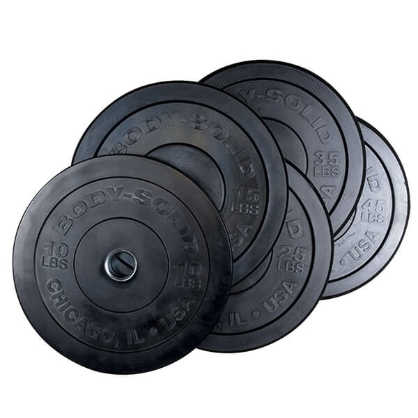 Body-Solid Tools Chicago Extreme Bumper Plates OBPX