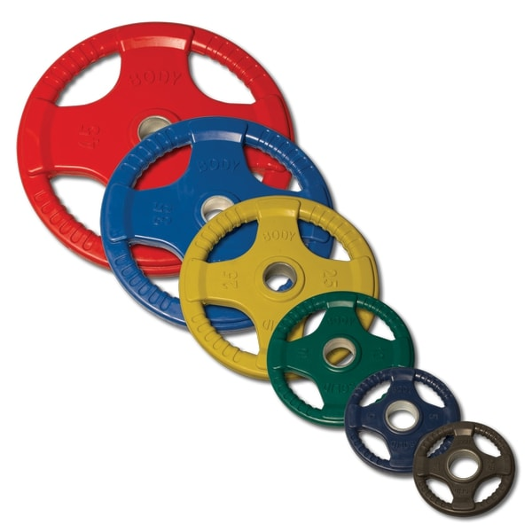 Body-Solid Tools Colored Rubber Grip Olympic Plates ORC
