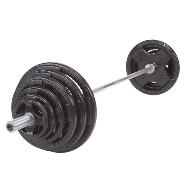Body-Solid Tools OSR Plate and Barbell Set