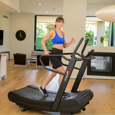 Pro 6 Arcadia Air Runner Treadmill Female Model 3D View Walking