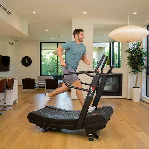 Pro 6 Arcadia Air Runner Treadmill Male Model Side View