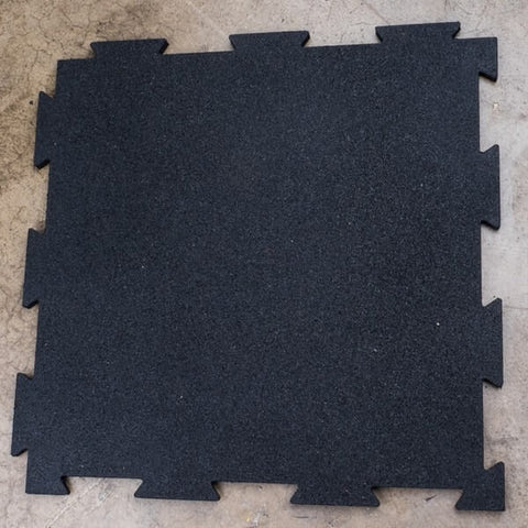 Image of Body-Solid Tools Black Puzzle Floor Mats RFBST4PB
