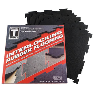 Body-Solid Tools Black Puzzle Floor Mats RFBST4PB